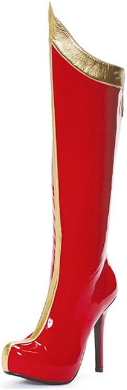 Super Hero Red Thigh High Women's Boots
