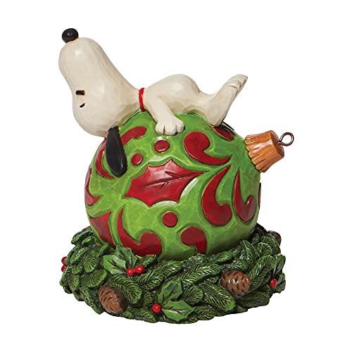 Enesco Peanuts by Jim Shore Snoopy posa su un ornamento statuetta
