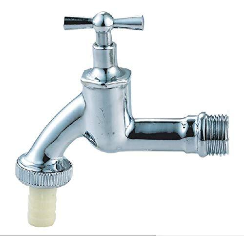 708A Auslaufventil, Auslaufhahn, Wasser Hahn, Waschmaschine Hahn, poliert, verchromt, glänzend, Messing 1/2