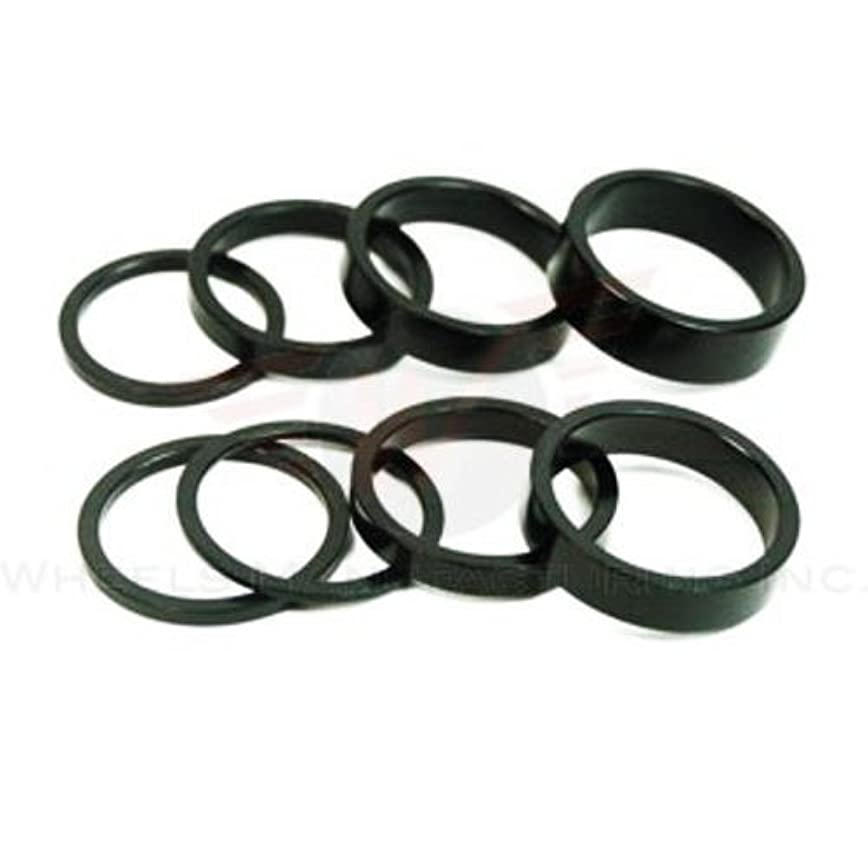アクセス慢性的の間でWheels Manufacturing(ホイルマニュファクチャリング) ヘッドセットスペーサー 1-1/8 10mm ブラック 5pcs BHS2-10-5