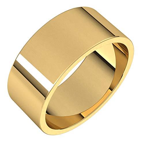 Fede nuziale piatta in oro, argento Sterling o platino, 8 mm e Oro giallo, 16, cod. F7.5:138970:P