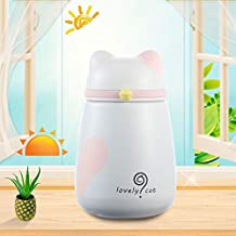 YMYN AYSMG 250mL Lovely Cartoon Bells Cat Stainless Steel Mug Children Girl Portable Cup(Pink) (Color : Pink)