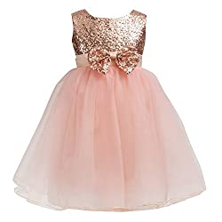 Champagne Sequin Toddler Ball Gown