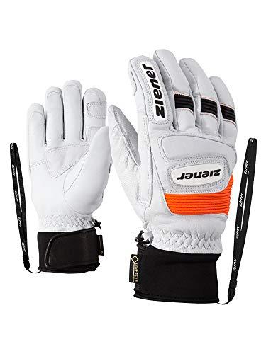 Ziener Erwachsene Guard GTX Grip PR Ski-Handschuhe/Wintersport | Wasserdicht, Atmungsaktiv, Gore-tex, Primaloft, Leder, Rennlauf, weiß (white), 10