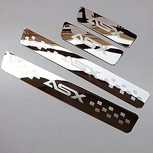 BTSDLXX 4Pcs Auto Styling Edelstahl Einstiegsleisten Kick Plates, Türschwelle Scuff Pedal Anti Scratch Schwellenabdeckung Schutz Trim Sticker Zubehör, für Mitsubishi ASX 2012-2020