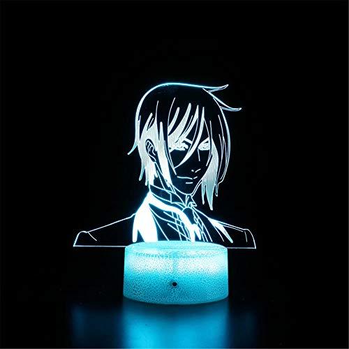 Nota de la muerte B lámpara de ilusión 3D regalo de Navidad luz de noche 16 cambio de color lámpara de decoración con control remoto para sala de estar, bar, mejor regalo juguetes