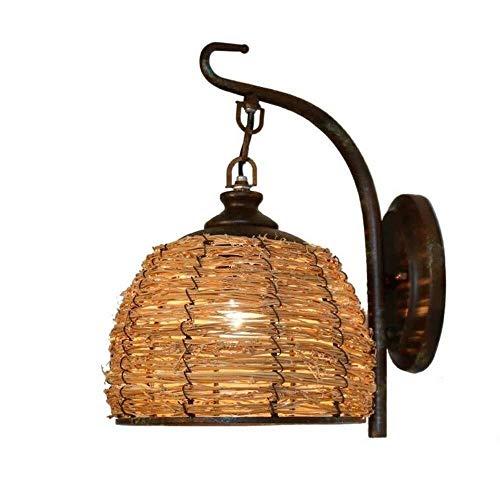 Wandlamp retro lantaarn rotan village persoonlijkheid kristal transparant Verbeter de kwaliteit 28 x 33 cm.