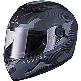 Agrius Rage SV Tracker Motorradhelm XXL matt schwarz