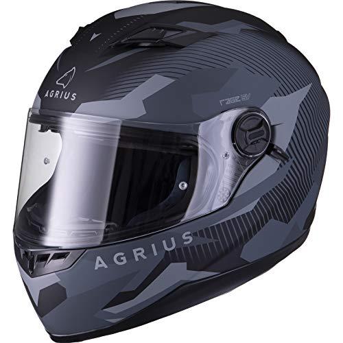 Agrius Rage SV Tracker Motorcycle Helmet M Matt Bl