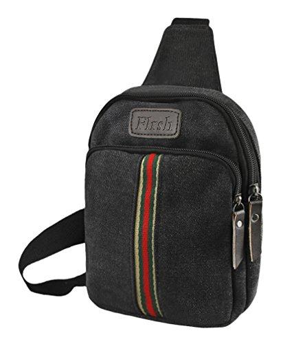 YSXY Herren Man Umhängetasche Rucksack Tasche Handtasche Schultasche Bag Sporttasche Retro Canvas für Outdoor Sport Bummel Wandern Arbeit Joggern