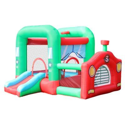Populaire combinatie Slide met kleine Trampoline opblaasbare Dog Huis van de Sprong, Bouncer Jumper voor kinderen en volwassen