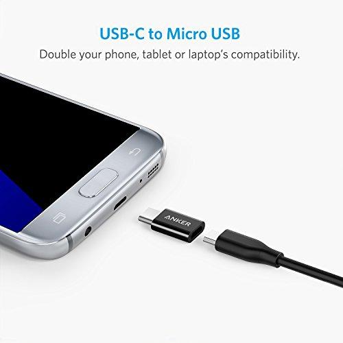 Anker USB C Adapter auf Micro USB [4 in 1 Pack], 56K Widerstand für Galaxy S9 S8 Note 8 A5 A3 2017,LG g5 g6,Sony Xperia XZ,Huawei P9/P10,MacBook Pro 2016 und weitere (Schwarz)