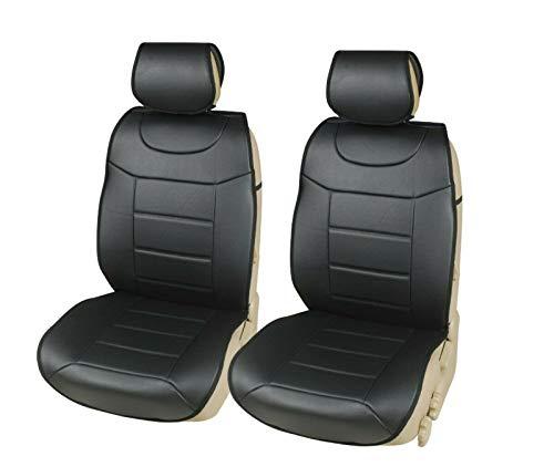 AB1 Flexzon - Juego de 2 fundas protectoras para asientos delanteros de coche, color negro