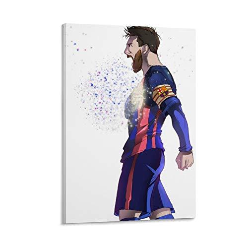 QWKM Póster decorativo de Adios Vaquero Messi para pared de salón, dormitorio, 50 x 75 cm
