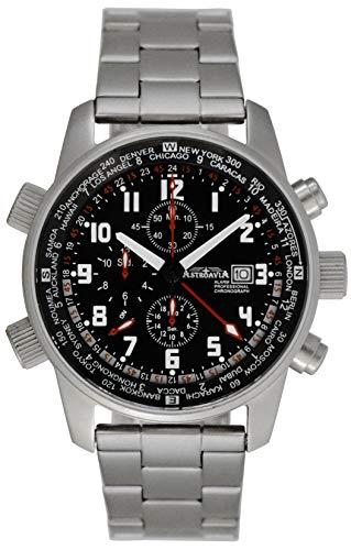 Astroavia Herren-Armbanduhr Alarm Chronograph Quarz TK61SL