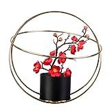yasu7 Soporte de hierro forjado, para macetas, para interiores y exteriores, arreglo de flores, enseñanza, jardín, balcón, decoración de manualidades