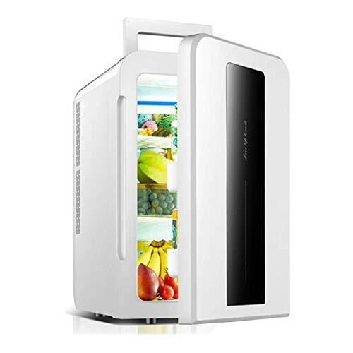 22L auto koelkast, mini koelkast 12v 220v, Single Core Smart Version Refrigeration Household Small Student Dorm Room (kleur: zwart en wit) LOLDF1