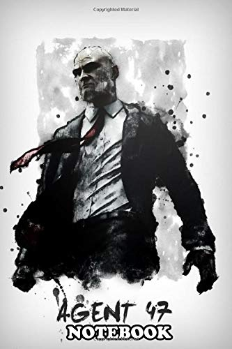 """Notebook: Agent 47 Hitman , Journal for Writing, College Ruled Size 6"""" x 9"""", 110 Pages"""