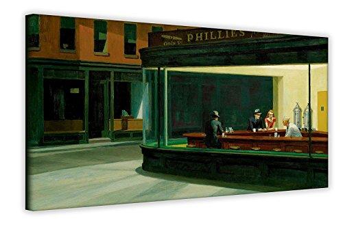 Nachteulen, Edward Hopper Wandschmuck, Pop-Art-Leinwand, amerikanische Kunst, Raumdeko, canvas, 40