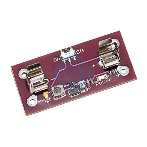 ZTSHBK Lilypad-Stromversorgungsmodul AAA-Batterie-Stufen-bis-5-V-Wandler für das elektronische Leiterplattenmodul des Arduino DIY-Kits