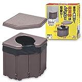 サンコー 非常用 簡易トイレ 防災 ポータブル コーナー 日本製 排泄処理袋 凝固剤付 耐荷重120kg 携帯 48×35×40cm R-46