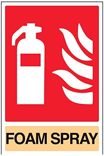 vsafety 11029 au-r brandblusser bord, schuim spray, stijve kunststof, portret, 200 mm x 300 mm, beige/zwart/rood