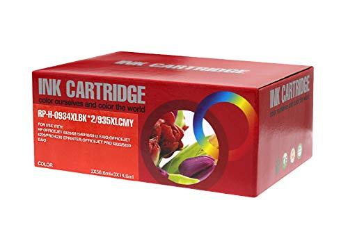 Mondial Cartucho HP-934/935 XL - Pack de 4 cartuchos de tinta compatibles con HP HP-934/935 XL