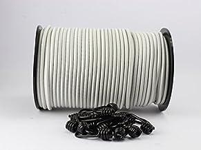 8 mm expandertouw wit 20 m + 10 spiraalhaken rubberen touw zeildoek haak touw