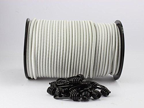 8 mm Expander corda bianco 20 m + 10 spiral ganci in gomma corda teloni corda gancio corda
