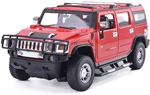 KJAEDL Modelo de Coches para niños Modelo de Auto Fundido Hummer H2 H2 Off-Road Vehículo 1:18 Children's Toy Toy Car Alloy Simulation Coche Regalos de colección Decorativos para niños