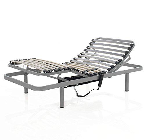 Mivis - Somier electrico articulado de acero multilaminas de abedul, tamaño 150/200...