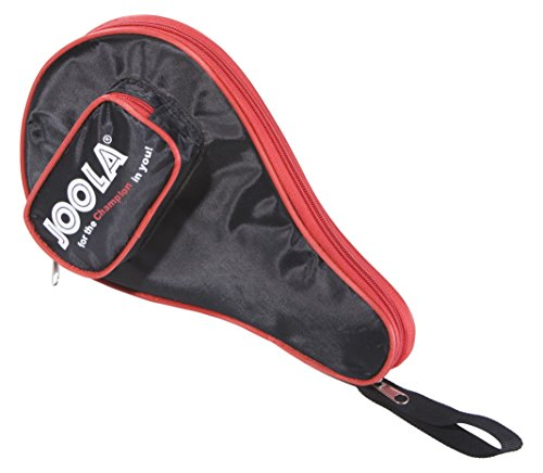 Joola Tischtennishülle Pocket Tischtennistasche Passend für 1 Tischtennisschläger und 3 Tischtennisbälle, RED