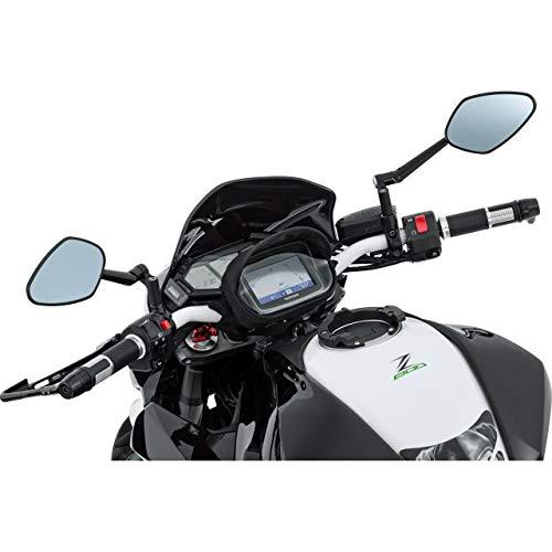 QBag Hecktasche Motorrad Motorradtasche Lenkertasche 01 für Navi/Smartphone, praktischer Blendschutz, Touchscreenbedienung, spritzwassergeschützte Kabeldurchführungen, Schwarz