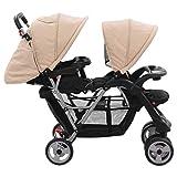 Tidyard Baby Zwillingswagen Geschwisterwagen Doppel-Kinderwagen für Zwillinge oder...