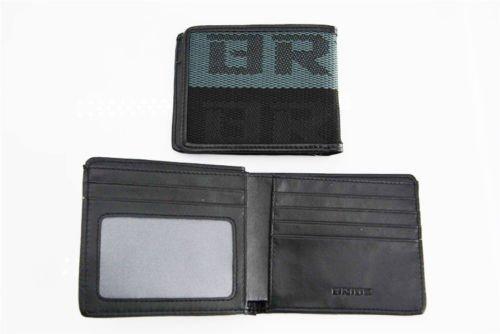 JDM BRIDE Seat Gradation Logo Wallet Custom Stitched Leather Racing- Black