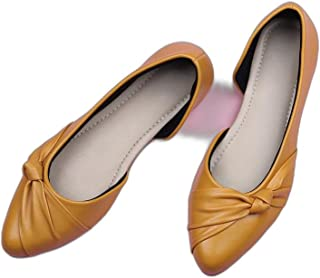 Walktrendy Women's Ballet Flat (wtwb173_Yellow_41)
