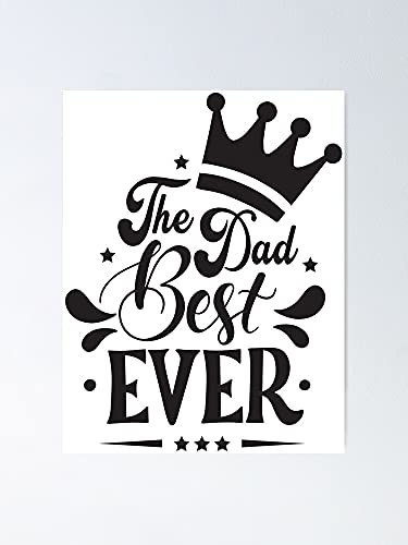AZSTEEL Happy Father's Day Design Vintage Style Father Day T-Shirt Design Typography Best for Party Greetings Cards Mug Banner Poster Vector Illustration Poster Best Gift Mothers