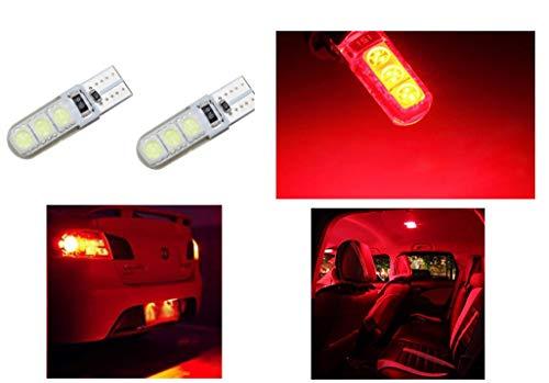 2 LUCI DI POSIZIONE CANBUS 6 LED ROSSE T10 lampadina auto 12V no errore lampada rossa