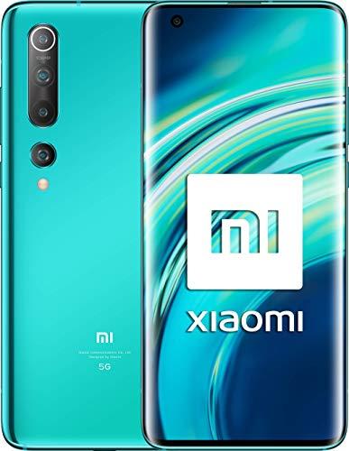 "Xiaomi Mi 10 (Pantalla FHD+ 6.67"", 8GB+128GB, Camara de 108MP, Snapdragon 865 5G, 4780mah con carga 30W, Android 10) Verde [Versión española]"