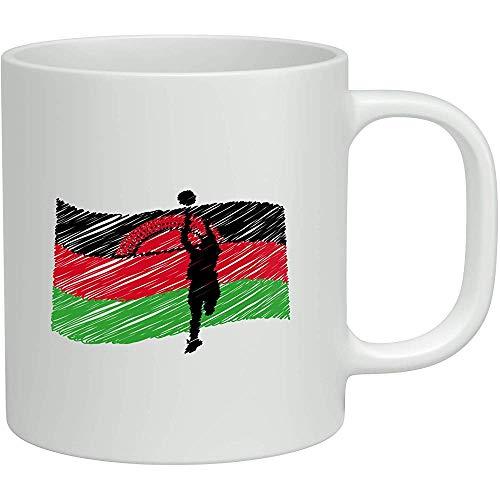 Neuheits-Geschenk-Becher-Schalen-Kaffee Malawis Netball weißer 11oz