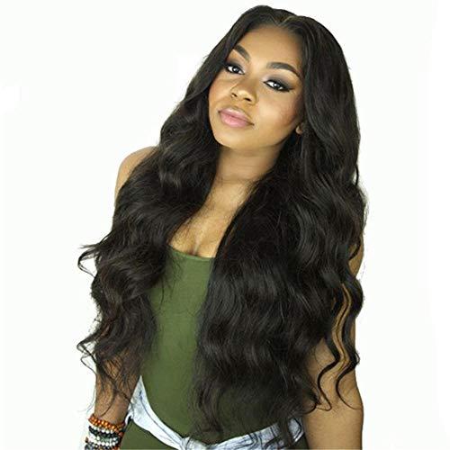 Perruques européennes et américaines_Perruques européennes et américaines femmes aux longs cheveux bouclés et aux cheveux ondulés-noir