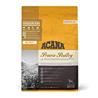 Dogs are not only capable of eating the foods of their ancestors, they actually require it for peak health Loaded with nourishing meat protein, ACANA Prairie Poultry features free-run chicken and turkey plus whole nest-laid eggs, delivered FRESH or R...
