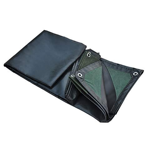 Suministros Duelo Negro 600 / M² 0.55 Mm Lona Impermeable Cubierta De Hoja De Tierra Súper Servicio Pesado,3X5m