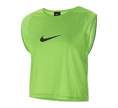 NIKE Camiseta Unisex de Entrenamiento Bib, Unisex Adulto, Camiseta, CW3845, Action Green/Black, Small