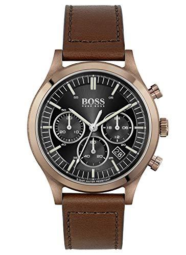 Hugo BOSS Reloj para de Cuarzo con Correa en Cuero 1513800