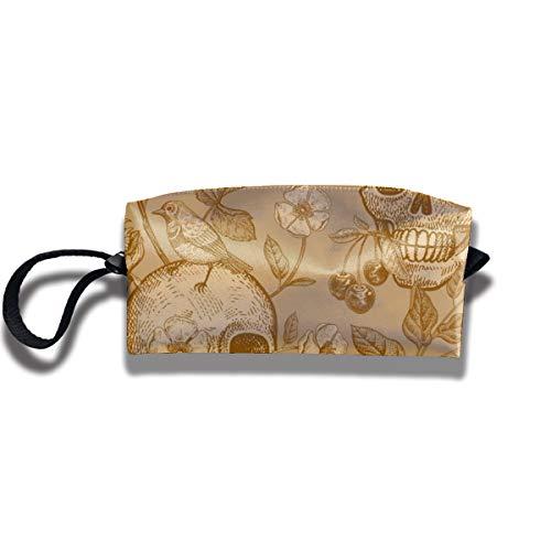 Bbhappiness Pouch Handbag Cosmetics Bag Case Purse Travel & Home Portable Make-up Receive Bag Skulls Rose Flowers Tulips Birds