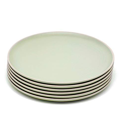 Dinner Plates, Ceramic Make, by Kook, Mint, Satin finish, 10 inch, Set of 6