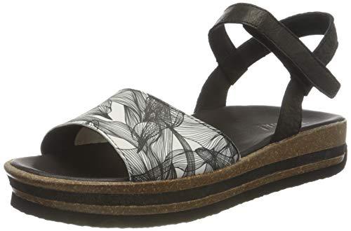 THINK! Damen ZEGA_3-000356 nachhaltige Flache Sandale, 0000 SZ/Kombi, 38 EU