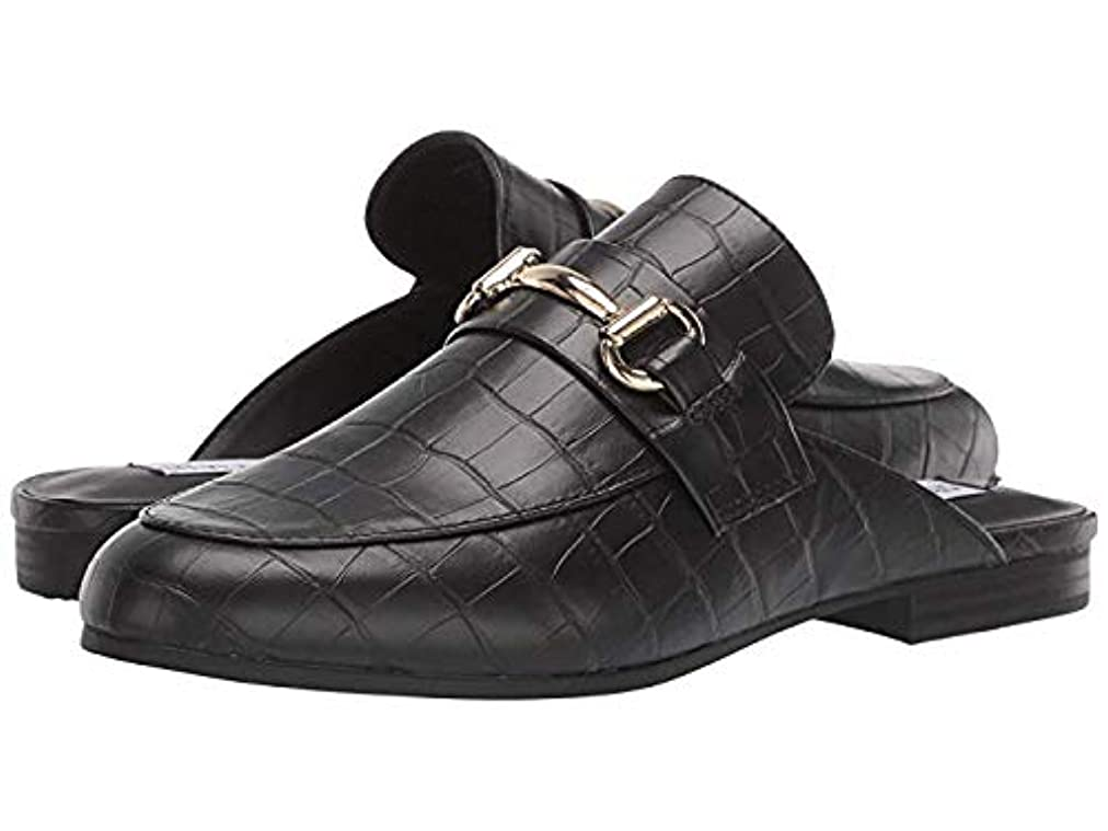 説明六最適レディースローファー?靴 Kandi Slip-On Mule Black Croco (28cm) M [並行輸入品]