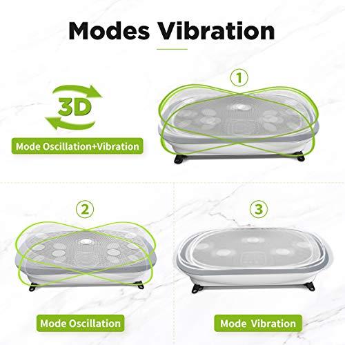 JUFIT 3D Plateforme Oscillante et Vibrante Professional Vibro Shaper Power Plate, 2 Moteurs, 3 Modes de Vibration, Télécommande Au Poignet